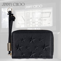 【Jimmy Choo】SS20 NELLIE レザー コインケース スターエンボス