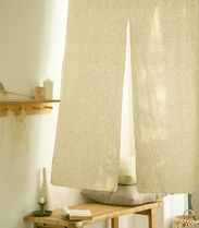 【DECO VIEW】Beige linen front door curtain