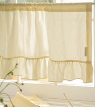 【DECO VIEW】Natural Wash Ruffle Balanced Curtain