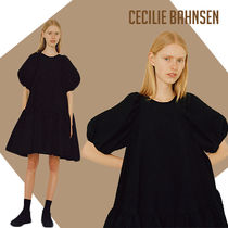 CECILIE BAHNSEN Esme タイバック ティアード ドレス黒