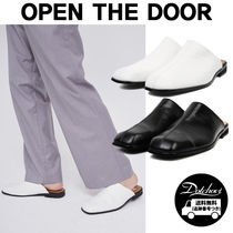 OPEN THE DOOR leather line mule MH1715 追跡付