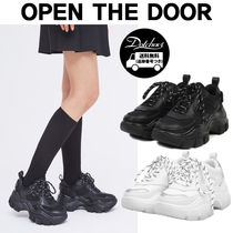 OPEN THE DOOR sporty matt platform sneakers MH1724 追跡付