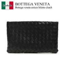Bottega veneta unisex biletto clutch