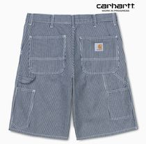 ★20SS新作★CARHARTT★SINGLE KNEE SHORT HERMOSA_BLUE/WHITE