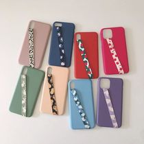 [tipitipo] Simple color hard case with Strap (matte) IPhone