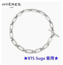 【Hyeres lor】Noailles Silver Link Chain Necklace ★BTS着用