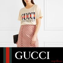 【国内発送】GUCCI Tシャツ Printed cotton-jersey T-shirt