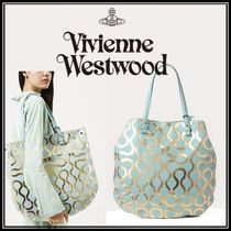 ◆Vivienne Westwood◆SQUIGGLE WORLDS END レザートートバッグ
