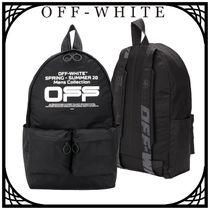Off-White Wavy ロゴ ダブルポケット バックパック 関税なし