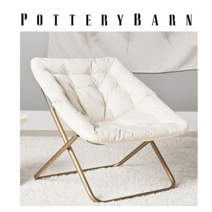 Pottery Barn 椅子・チェア 安心*国内発送【POTTERY BARN】折り畳み式 丸イス リラックス05