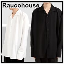 Raucohouse(ラウコハウス) シャツ ★送料・関税込★Raucohouse★OPEN WIDE COLLAR SHIRTS★2色