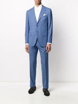 Kiton スーツ 関税込み◆BLUE WOOL TWO-PIECE SUIT Suits KITON(3)