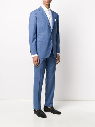Kiton スーツ 関税込み◆BLUE WOOL TWO-PIECE SUIT Suits KITON(4)