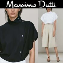 【Massimo Dutti 】Button-up blouse with shoulder and placket