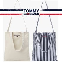 Tommy Hilfiger★FLAT刺繍LOGO COTTON CROSS BAG 2色