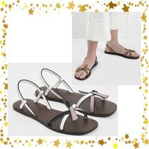 【Charls&keith】Front Knot Tie Slingback Sandals