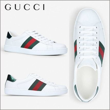 トレンド★GUCCI★ New Ace leather trainers スニーカー