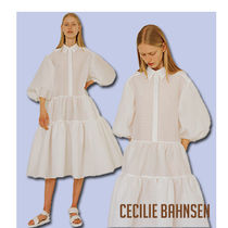 CECILIE BAHNSEN Amy シアサッカー ティアードシャツドレス