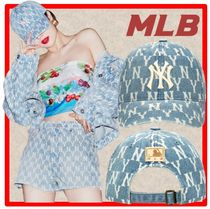 ☆人気☆MLB KOREA☆MONOGRAM DENIM BALL CAP☆