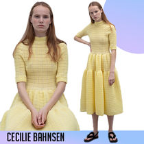 CECILIE BAHNSEN Trude ティアード ドレス イエロー