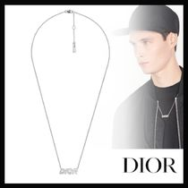 【20SS新作☆国内発送】DIOR★ DIORロゴ ネックレス・シルバー