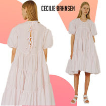 CECILIE BAHNSEN Esme タイバック ティアード ドレス ピンク