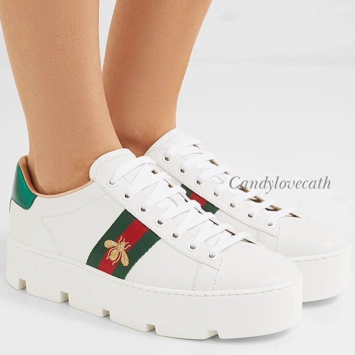Shop GUCCI Ace Women'S Ace Embroidered