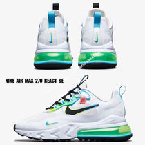 NIKE★AIR MAX 270 REACT SE★WHITE/BLACK/BLUE FURY/VOLT