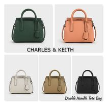 CHARLES & KEITH【Double Handle Tote Bag】追跡/送料込み