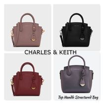 CHARLES & KEITH【Top Handle Structured Bag 】追跡/送料込み