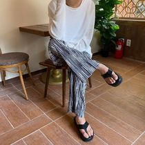 COLN Moon Mixed Summer Pleats Pants (2color)