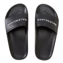 BALENCIAGA PISCINE LEATHER FLAT SANDALS フラットサンダル