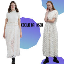 CECILIE BAHNSEN フローラルチュール ドレス 白