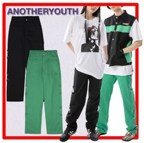 ANOTHERYOUTH(アナザーユース) パンツ ☆韓国の人気☆【ANOTHERYOUTH】☆Side Buckle Pant☆2色☆
