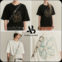 [ANDERSSON BELL] ★ UNISEX SUMMER FLEUR EMBROIDERY T-SHIRT
