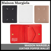 【Maison Margiela】LEATHER POPPER WALLET