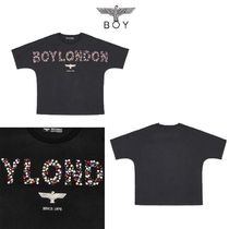 BOYLONDON★大人気★LUXURIOUS LINE STONE T-SHIRT - B02TS1492F