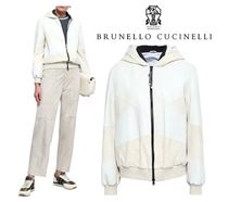 関税・送込BRUNELLO CUCINELLI☆Two-tone leather hooded jacket