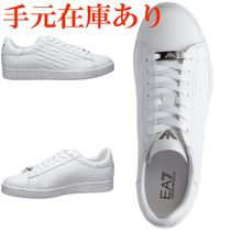EMPORIO ARMANI  shoes leather trainers sneakers
