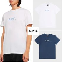 【A.P.C】STAMP LOGO T-シャツ White&Blue