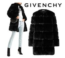GIVENCHY☆Paneled faux fur coat