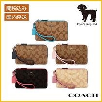 【COACH】Double Corner Zip Wristlet リストレット◆国内発送◆