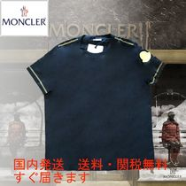 MONCLER モンクレール 袖ビッグゴールドロゴワッペン Tシャツ