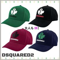 D SQUARED2(ディースクエアード) 帽子 大人もOK★DSQUARED2★ロゴプリント キャップ★4色★8-16Y