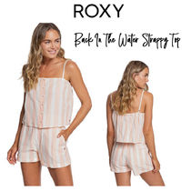 【ROXY】Back In The Water Strappy Top ストライプ柄 トップス