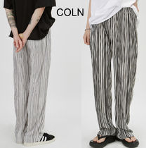 COLN Lauren Striped Summer Pleats Pants (2color)