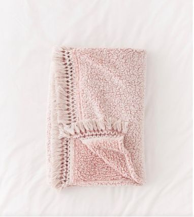 Urban Outfitters ブランケット 【Urban Outfitters】フリンジ付き★フリーススローブランケット(7)