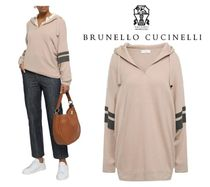 BRUNELLO CUCINELLI☆Bead-embellished cashmere hooded sweater