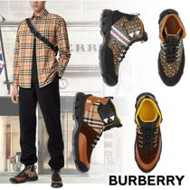 BURBERRY Cotton and Suede Tor Boots Price スニーカー ロゴ