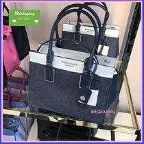 【kate spade】デニム素材★cameron medium satchel★2way